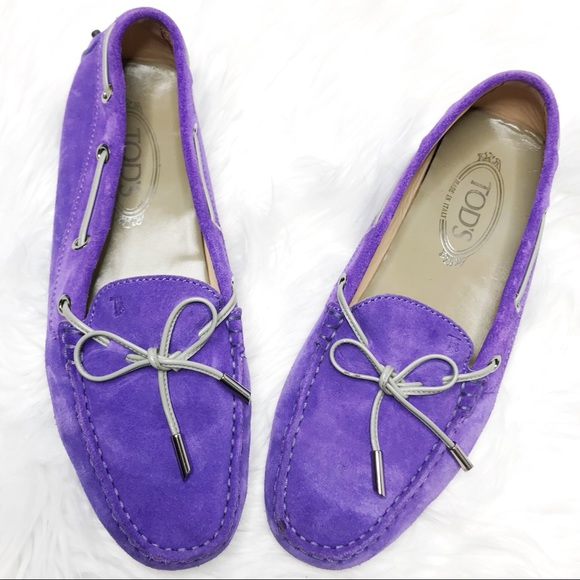 d042b4e2b58 Tod s Purple Suede Driving Loafers. M 5c2c113dd6dc528acb341ba0
